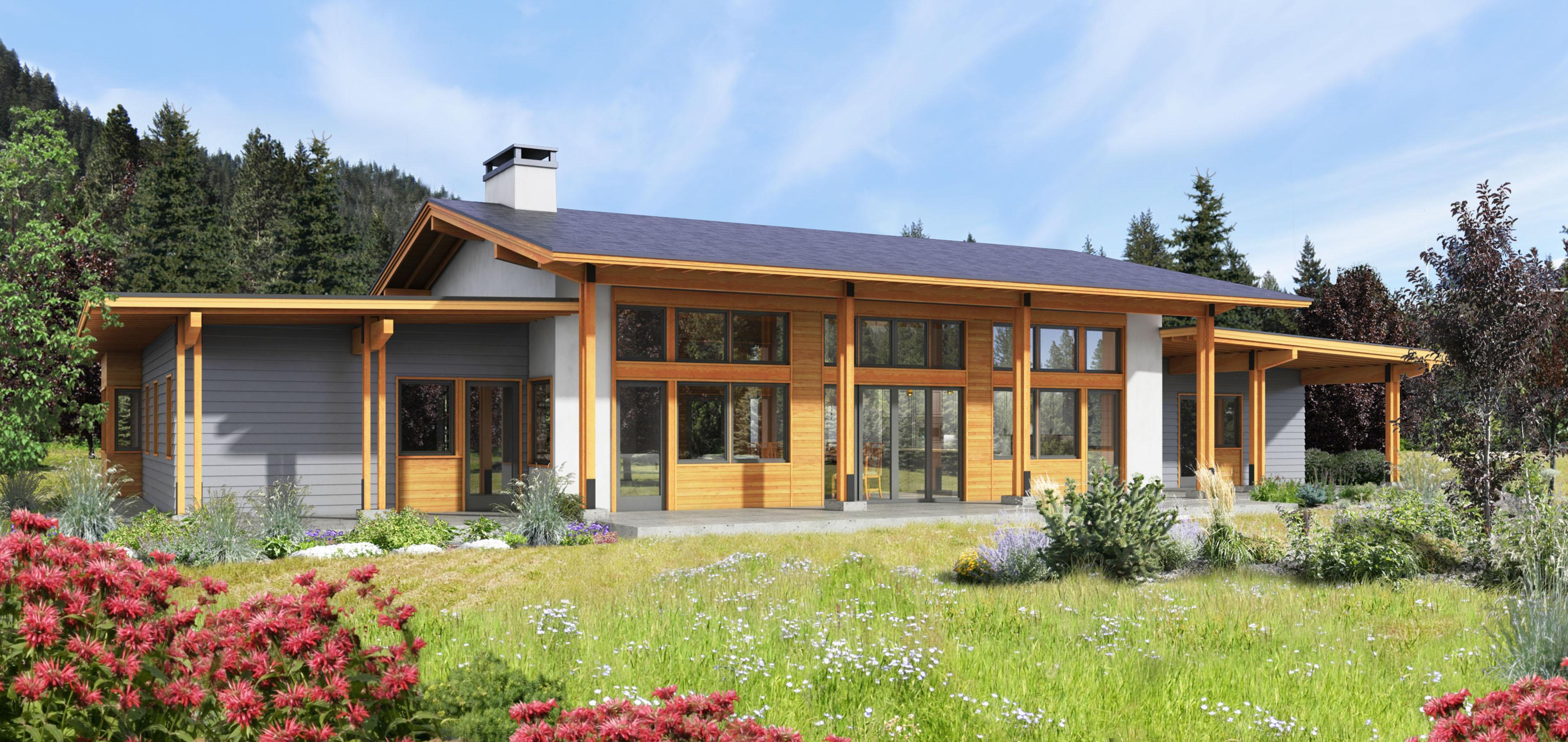 Exterior Rendering of Leavenworth House 06